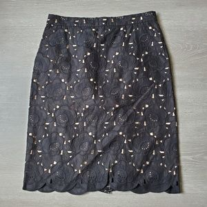 J. Crew Collection Austrian Lace Pencil Skirt NWT
